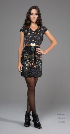Vestido Antix Ref. 9047 Coleção O Céu de Celeste