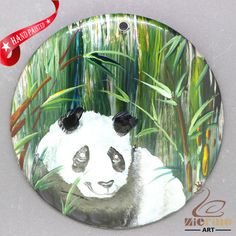 Fashion Pendant Hand Painted Panda Natural  Shell necklace ZL304181 #ZL #Pendant