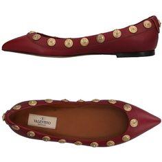 2e7e40d0243724 Valentino Garavani Ballet Flats (£309) ❤ liked on Polyvore featuring shoes