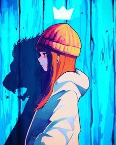 Best Cool Art Anime Style Digital images on Designspiration Digital Art digital art anime Anime Art Girl, Anime Guys, Manga Anime, Manga Girl, Cool Anime Girl, Anime Hair, Cool Girl, Digital Art Anime, Digital Art Girl