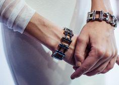 Graphic Metallic Cuffs by Balenciaga