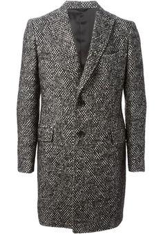 TONELLO - Single breasted tweed coat#alducadaosta #newarrivals #fw #fall #winter #men #fashion #style #accessories #apparel #tonello