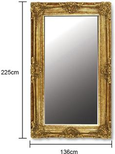 CH Furniture Large Rectrangle Gilt Mirror Will Add Character To Your Living Room Bedroom Hallway Bathroom Or Any Other Space Where A Is Desired