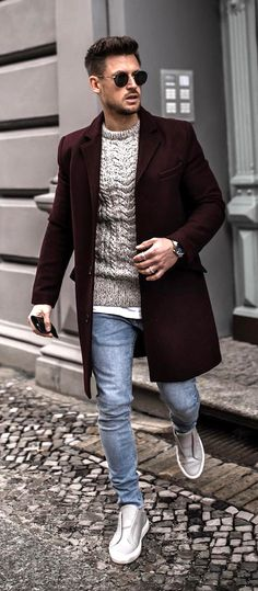 5 Fall Winter Essentials For Men Who Like Being Warm But Fashionable. What do menito be fashionable during the fall an items are all you need to create an amazing outfit. Stylish and edgy casual winter fall outfits for men. Stylish Winter Outfits, Winter Fashion Casual, Casual Winter, Casual Fall Outfits, Trendy Fashion, Fall Winter, Fashion Ideas, Casual Outfit For Men, Style Fashion