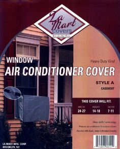 Outdoor Air Condition Cover for Casement. by La Mart Mfg. $16.00. Secured with elastic straps w/metal closures.. Protects unit from rust and dust.. Grey outdoor air condition cover #A. Casement. Stops drafts/saves energy.. outdoor air condition cover #D.  Fits 15,000-20,000 btu. Stops drafts/saves energy. Protects unit from rust and dust. Secured with elastic straps w/metal closures.