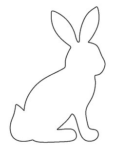 Sitting bunny pattern. Use the printable outline for crafts, creating stencils, scrapbooking, and more. Free PDF template to download and print at http://patternuniverse.com/download/sitting-bunny-pattern/
