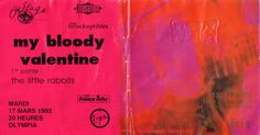 My Bloody Valentine ticket from 92's concert: Live At Olympia, Paris.