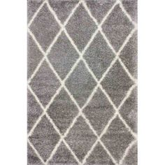 nuLOOM Machine Made Diamond Shag Area Rug or Runner, Gray