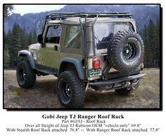 Gobi Jeep Wrangler TJ Ranger Recon Roof Rack - GJTJR - Jeep Wrangler TJ Roof Racks, Gobi, stealth, safari, ranger