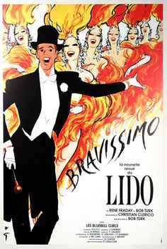 Painted Poster: Lido, Paris