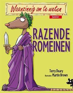 Terry Deary - Razende romeinen Waanzinnig om te weten junior (7+) Romans, Good Books, Projects To Try, Comic Books, School, Cookie, Biscuit, Cartoons, Comics