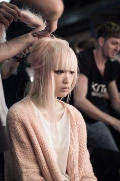 pastel pink hair - fernanda ly