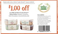 Coupon for Whole Foods Gelato