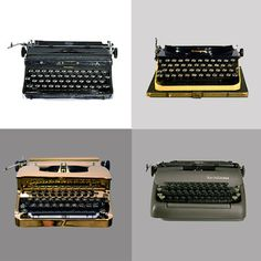Kasbah Mod's beautifully restored vintage typewriters are back again with more original and custom-painted machines. So, stick that pencil back in your hair and clack those keys until happy hour.
