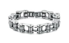 Punk Stainless Steel Bracelet Men Biker Bicycle Motorcycle Chain Men's Bracelets Mens Bracelets Bangles Fashion Jewelry Oh Yeah Visit us Bracelets For Men, Bangle Bracelets, Bracelet Men, Hand Bracelet, Link Bracelets, Trendy Bracelets, Leather Bracelets, Silver Bracelets, Heavy Metal