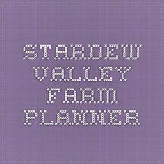 Stardew Valley Farm Planner