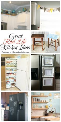 Great, Real Life, Kitchen Ideas featured on remodelaholic.com #kitchen #storage #decor #ideas