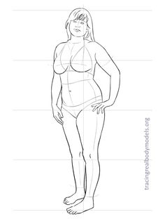 Real body fashion figure templates | Tracing Real Body Models
