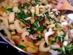 Bok Choy, Potato and Onion Side Dish