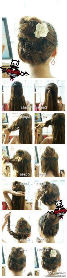 Bun and braid tutorial