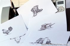 The Cameo, my ARTist : How to draw sketches with the Silhouette Cameo | Under A Cherry Tree