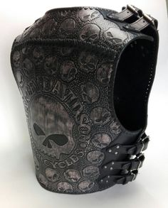 Items similar to Willie handmade genuine leather motorcycle biker vest on Etsy Motorcycle Leather Vest, Leather Armor, Leather Holster, Leather Men, Vetement Hip Hop, Harley Gear, Bike Leathers, Riding Gear, Gothic Outfits