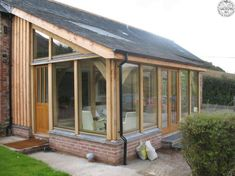 Lean to conservatory Extension Veranda, House Extension Design, Porch Extension, Rear Extension, Garden Room Extensions, House Extensions, Covered Deck Designs, Lean To Conservatory, Pergola Ideas For Patio