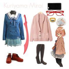 """Kuriyama Mirai -Kyoukai No Kanata"" by larissakethelly76 ❤ liked on Polyvore featuring Corinne McCormack and Maison Margiela"