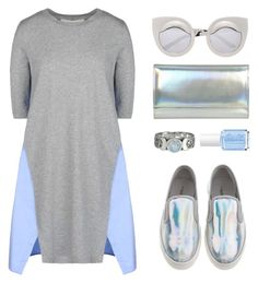 """""""Holographic"""" by felytery ❤ liked on Polyvore"""