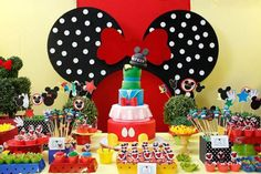 decoracao festa minnie, decoracao festa turma do mickey, decoracao festa infantil, decoracao festa luciana di riti, mesa doces minnie
