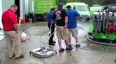 SERVPRO training on HCS hot water pressure washer trailer with waste wat...