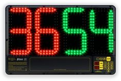 The Favero Substitution Board is an LED sign that exhibits the highest professional appearance for soccer referees. Useful for displaying the number of players entering and exiting and for displaying the remaining match time.
