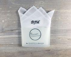 Personalized Pocket Handkerchief by BartekDesign monogram initials hanky