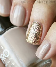 Rimmel Bare Necessities + Color club Gingerbread on http://glitterandnails.blogspot.com/