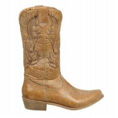 Coconuts Women's Gaucho Cowboy Boots (Tan)