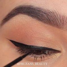 Easy and awesome eye makeup tutorials! Easy and awesome eye makeup tutorials! Makeup Looks For Brown Eyes, Makeup Eye Looks, Beautiful Eye Makeup, Simple Eye Makeup, Eye Makeup Tips, Eyeshadow Makeup, Beauty Makeup, Beauty Care, Beauty Tips