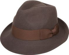 Sakkas Clark Grosgrain Bow Wool Trilby Fedora Brown SM     Details can be  found by clicking on the image. 603d2302e72d