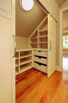 Impressive Attic bathroom decorating ideas,Attic renovation contractors and Attic storage killeen. Attic Bedroom Storage, Closet Storage, Attic Rooms, Closet Designs, Home, Closet Bedroom, Closet Remodel