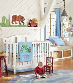If I ever have the ambition to create another baby room, an Eric Carle theme is so cute!