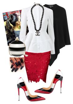 """""""3rd Sunday"""" by cogic-fashion on Polyvore featuring Etro, Relaxfeel, Alexander McQueen, Christian Louboutin, Kate Spade and Chanel"""