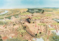 Cahokia Mounds State Historic Site is the area of an ancient indigenous city (c. 600–1400 CE) located in the American Bottom floodplain, between East Saint Louis and Collinsville.