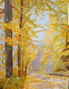 Ein Bild zum träumen... die Schönheit der Natur, Herbst, Steiermark. #Bergstraße #herbstfarben #Spaziergänge #Wald #Herbst #impressionist #Bäume #shöneherbst Impressionist, Painting, Painted Canvas, Forests, Fall, Nature, Kunst, Painting Art, Paintings