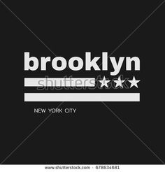 Vector illustration on the theme in New York City, Brooklyn. Stylized American flag. Typography, t-shirt graphics, poster, print, banner, flyer, postcard Kids Tops, Boys T Shirts, American Flag, Print Design, Brooklyn, Shirt Designs, Typography, Illustration, Mens Fashion