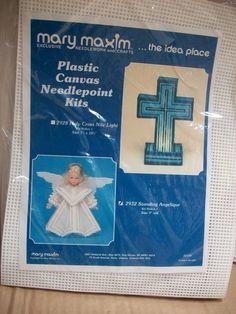 Angel Plastic Canvas Needlepoint Kit by Mary Maxim by mooglamom on Etsy