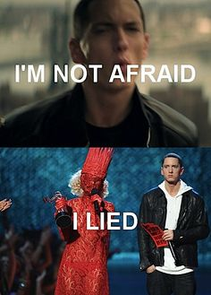 Hahahah! Look at Eminem's face! Gaga embodies everything that is wrong with...well let's face it, the world. Although I will admit she can make catchy(not good) songs.