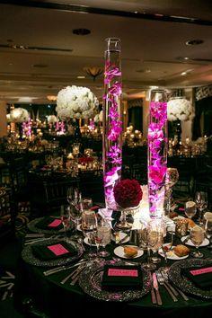 The hot pink details keep this classy black + white wedding fun. Devon | Brideside | The Blonde Photographer   #brideside #realwedding #black #pink #white #chicago #fun #classic #romantic
