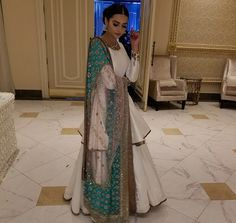 Another Outlook Of White Lehenga Choli Simple Pakistani Dresses, Pakistani Dress Design, Pakistani Outfits, Indian Dresses, Indian Outfits, Eid Outfits, Ethnic Outfits, Wedding Outfits, Fashion Outfits