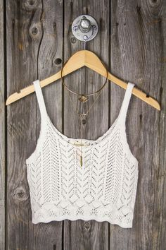 Crochet Sweater Crop Tank