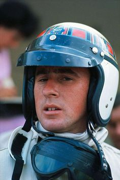 A young Jackie Stewart at the 1966 Belgian GP in only his second season of F1