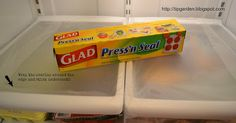 DIY Easy Clean Your Refrigerator...this is so brilliant, what a huge time saver!